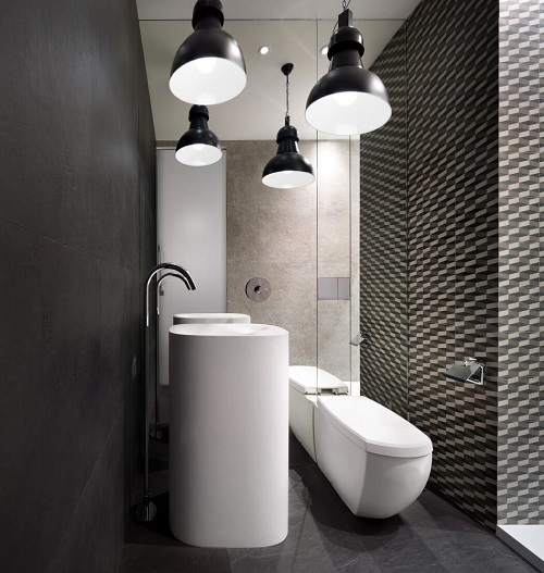 Modern bathroom design with modern furniture