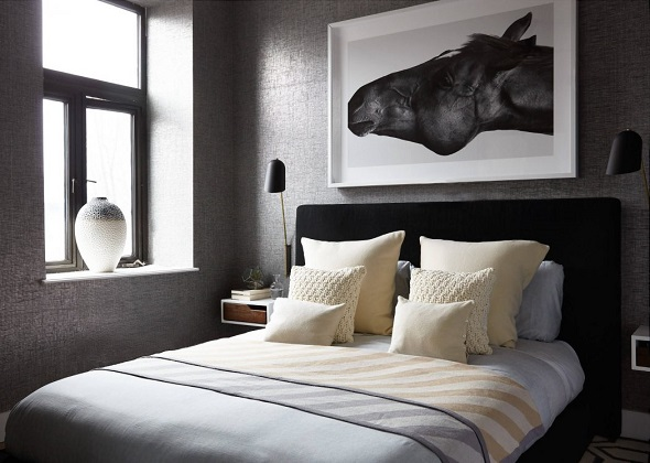 Modern home design decoration with gray color