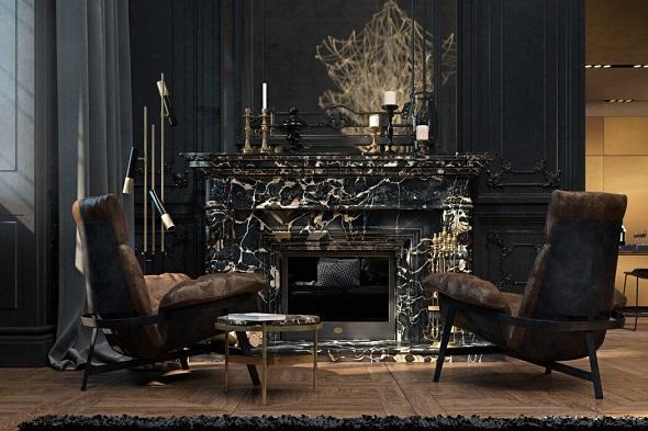 Modern design of living room
