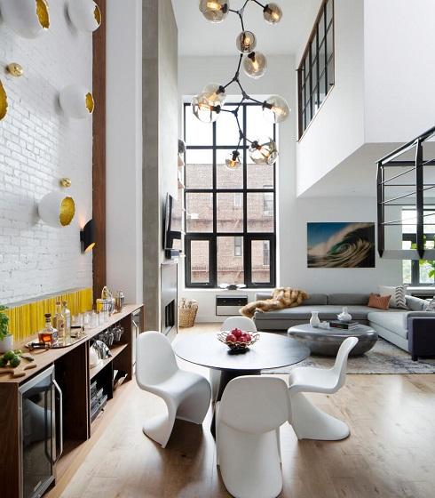 Modern home design decoration in living room