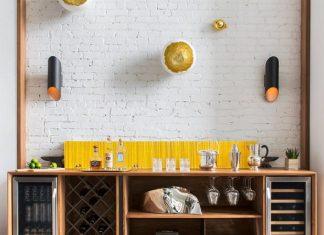 Modern home decoration with monochrome interior