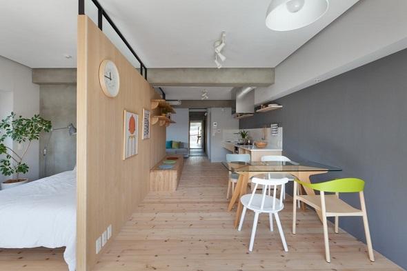 Modern interior design with creative arrangement