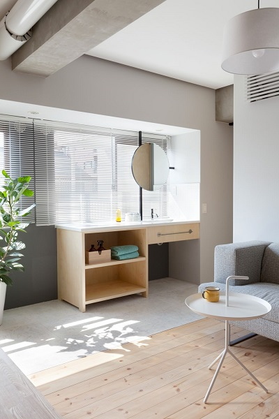 Modern interior design with Japanese style