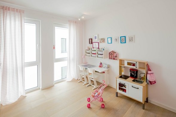 Modern nursery kid room design