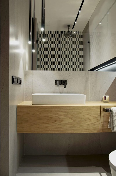 Simple interior for bathroom