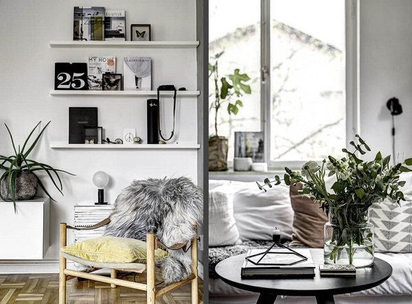Small apartment decor by Line Sandberg