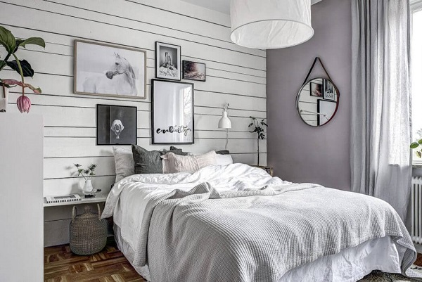Small apartment decor in bedroom