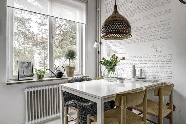 Small apartment decor with soft interior