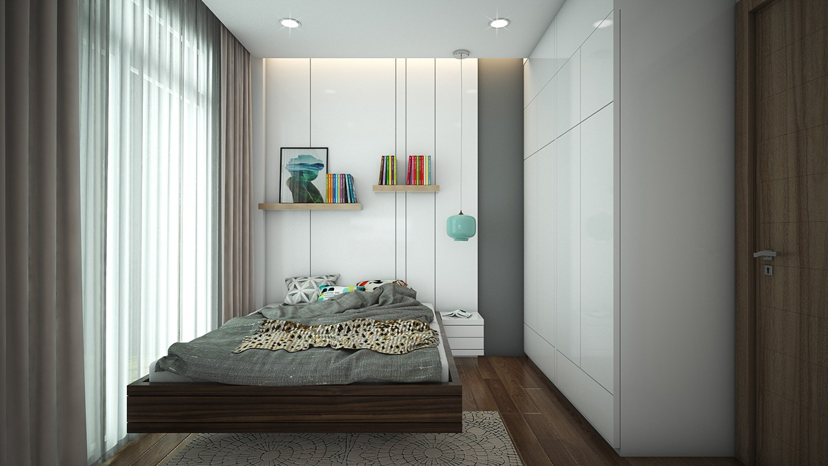 small bedroom with white wallsmall bedroom with white wall