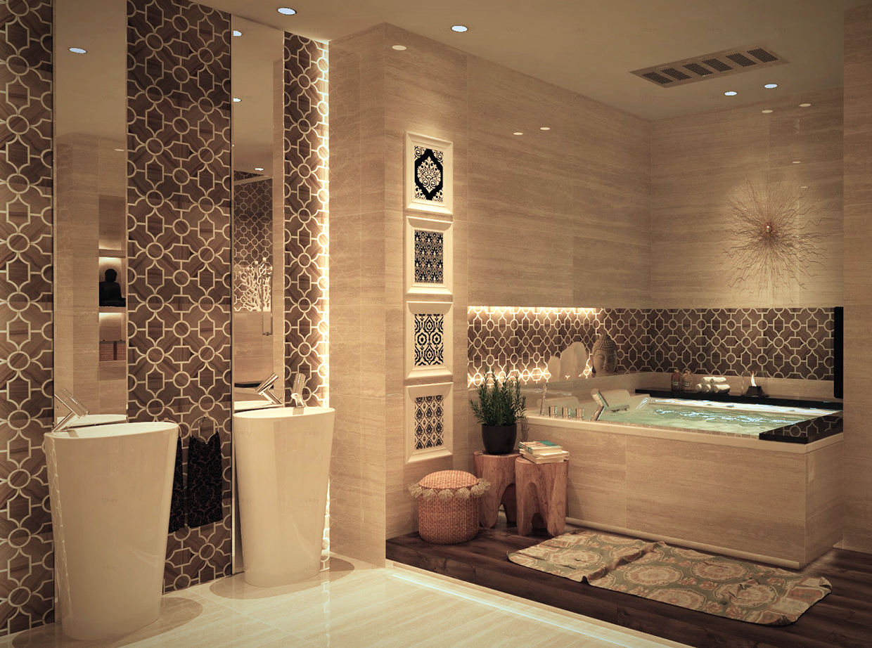 Luxurious bathroom designs with stunning decor details for Bathroom design and decor