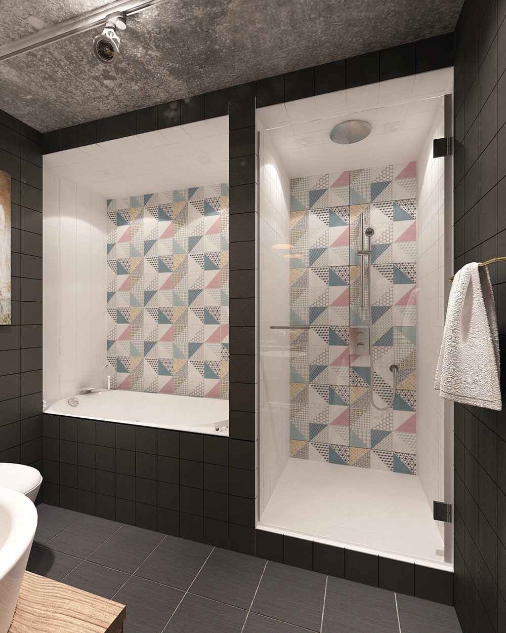 small bathroom tile design