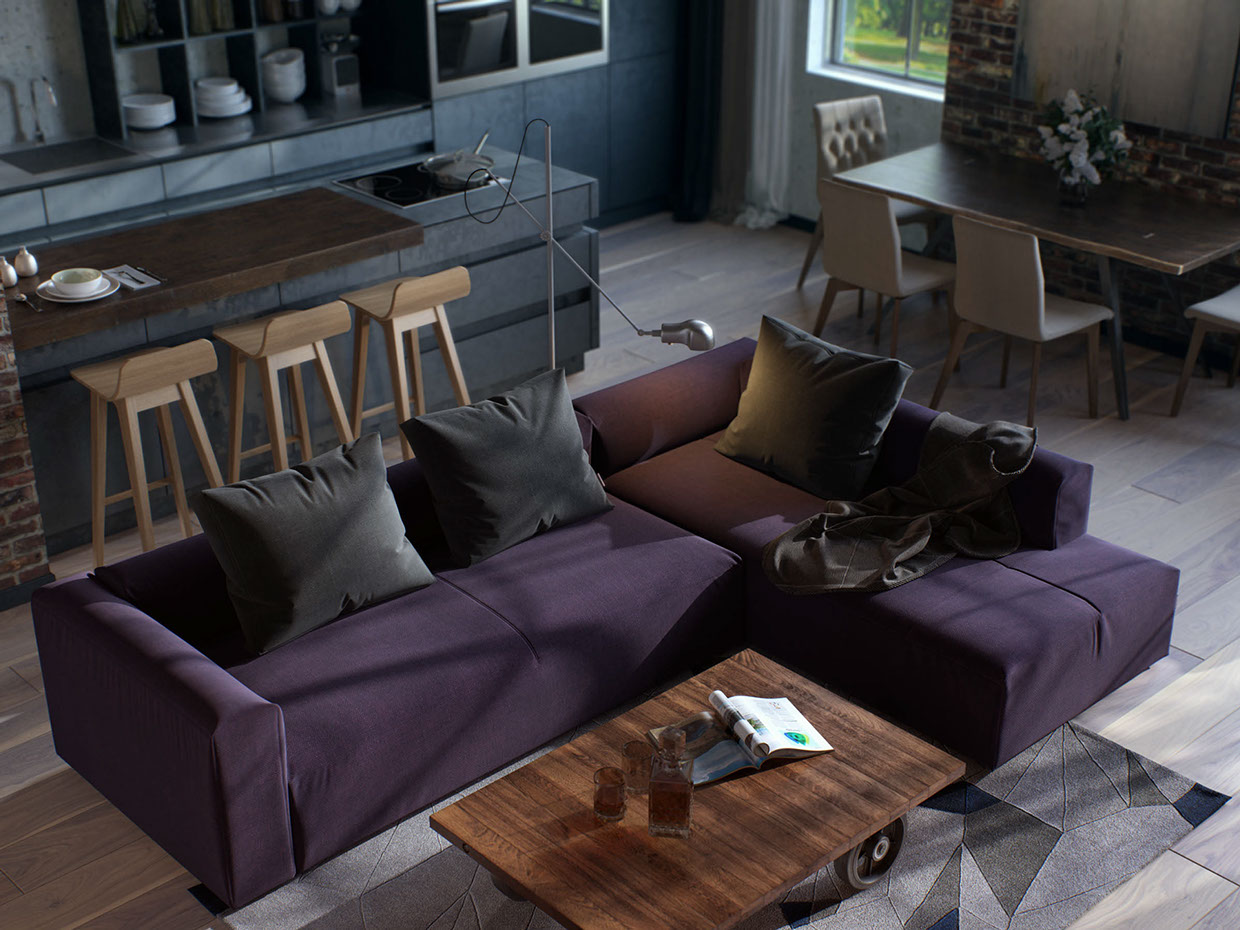 small purple apartment designsmall purple apartment design
