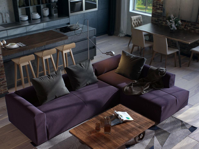 small purple apartment designsmall purple apartment design