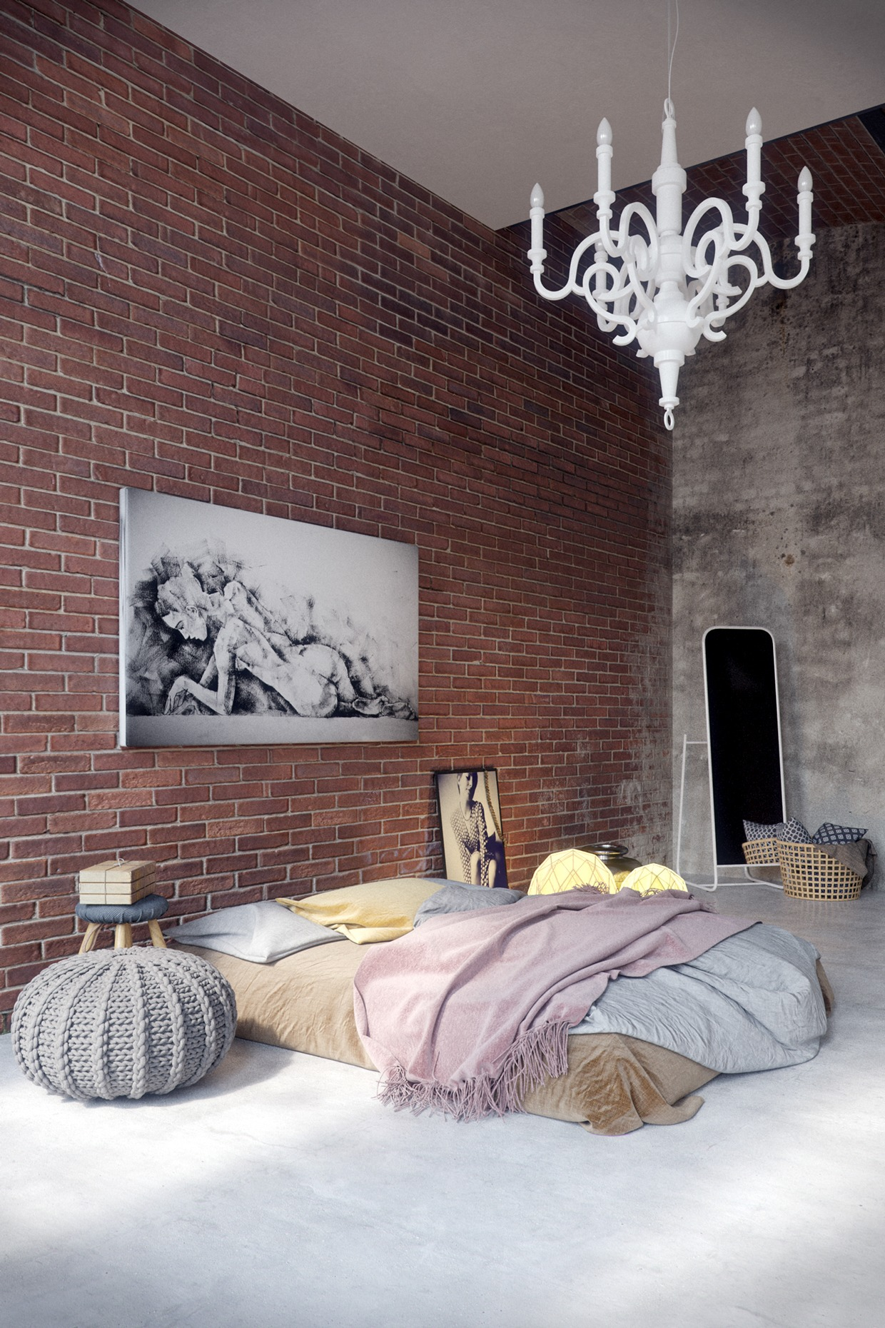 industrial bedroom design