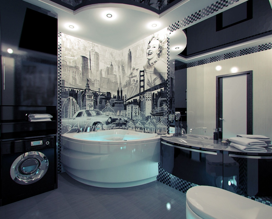 decorating bathroom design with bathtubs