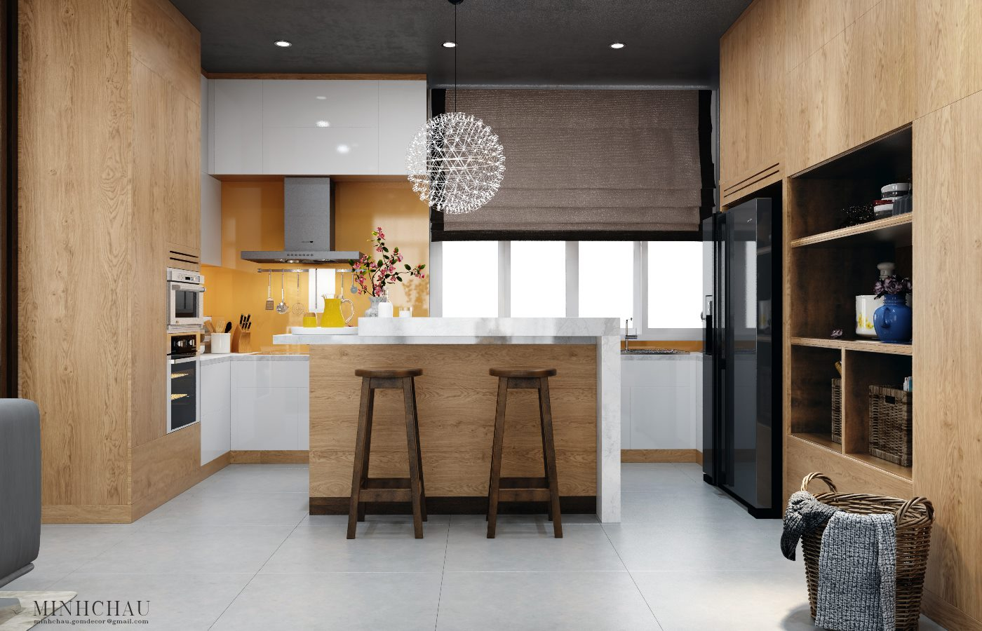 Modern kitchen designs with wooden accent decor brings a for Modern accent decor