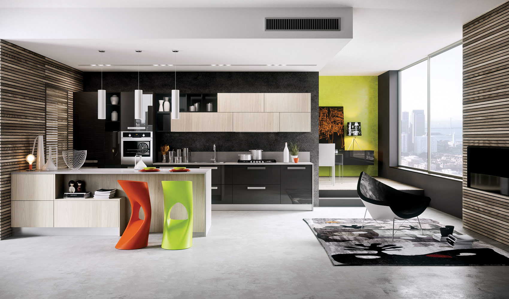 Suitable to apply modern kitchen designs combined with contemporary style decor roohome - Contemporary decor ...