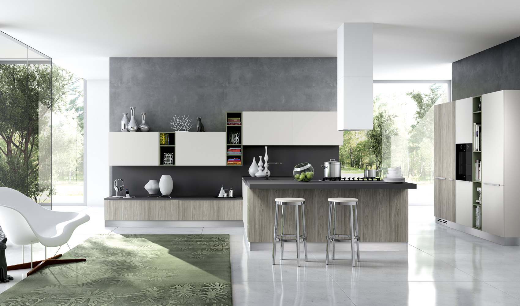 white decor for kitchen design