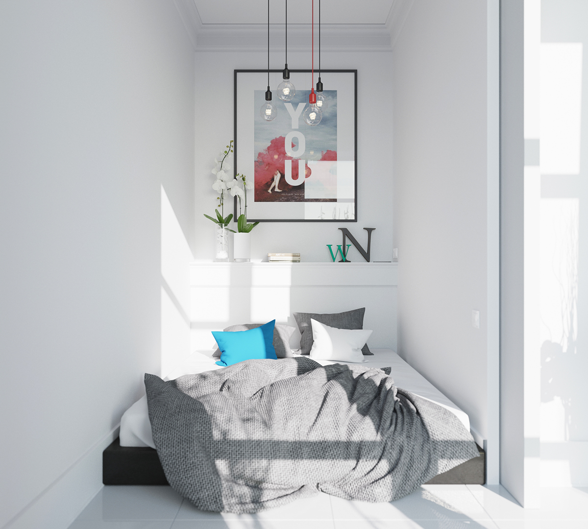Scandinavian Bedroom Decor Ideas With Perfect And White