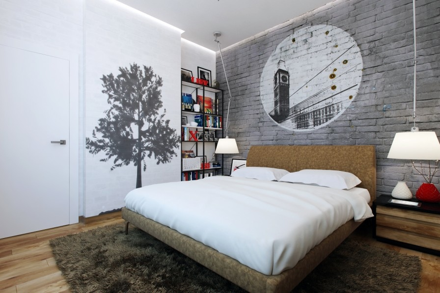 wall texture bedroom design