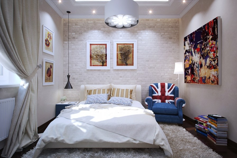 brick wall texture bedroom