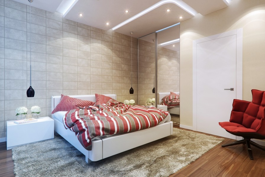 marble tile bedroom decor