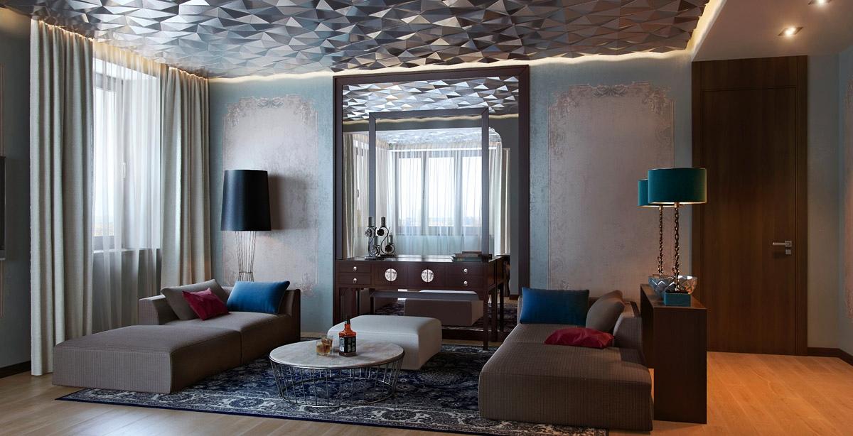 whimsical roof living room design