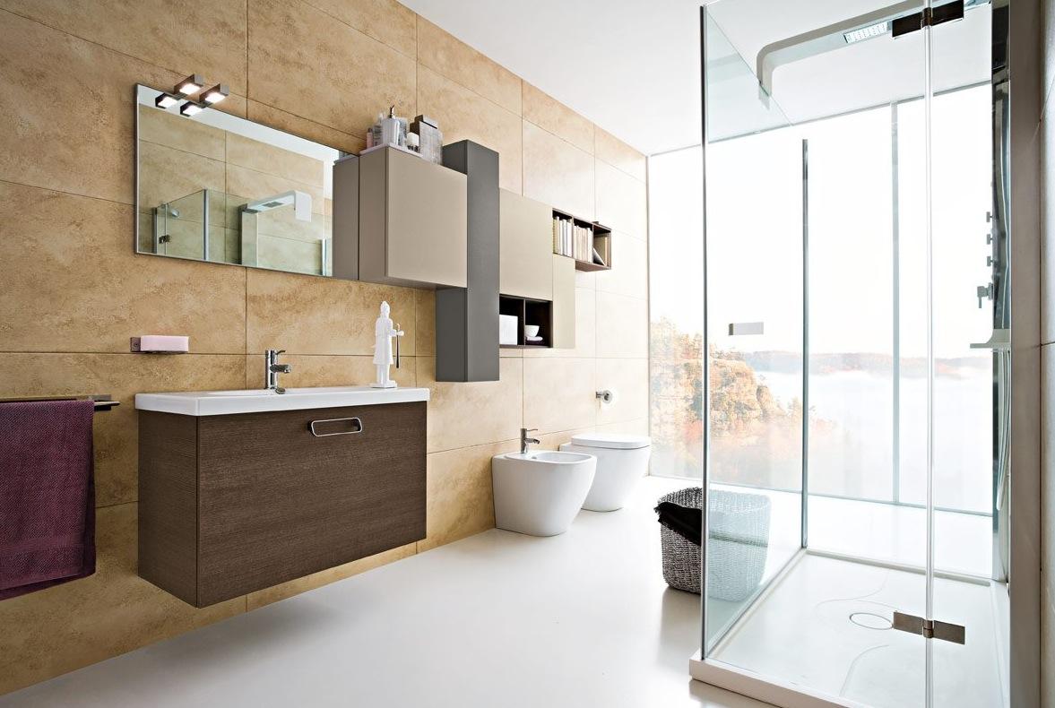Modern bathroom decorations - Katarzyna Kraszewska Architectura Decorating Modern Bathroom Decor