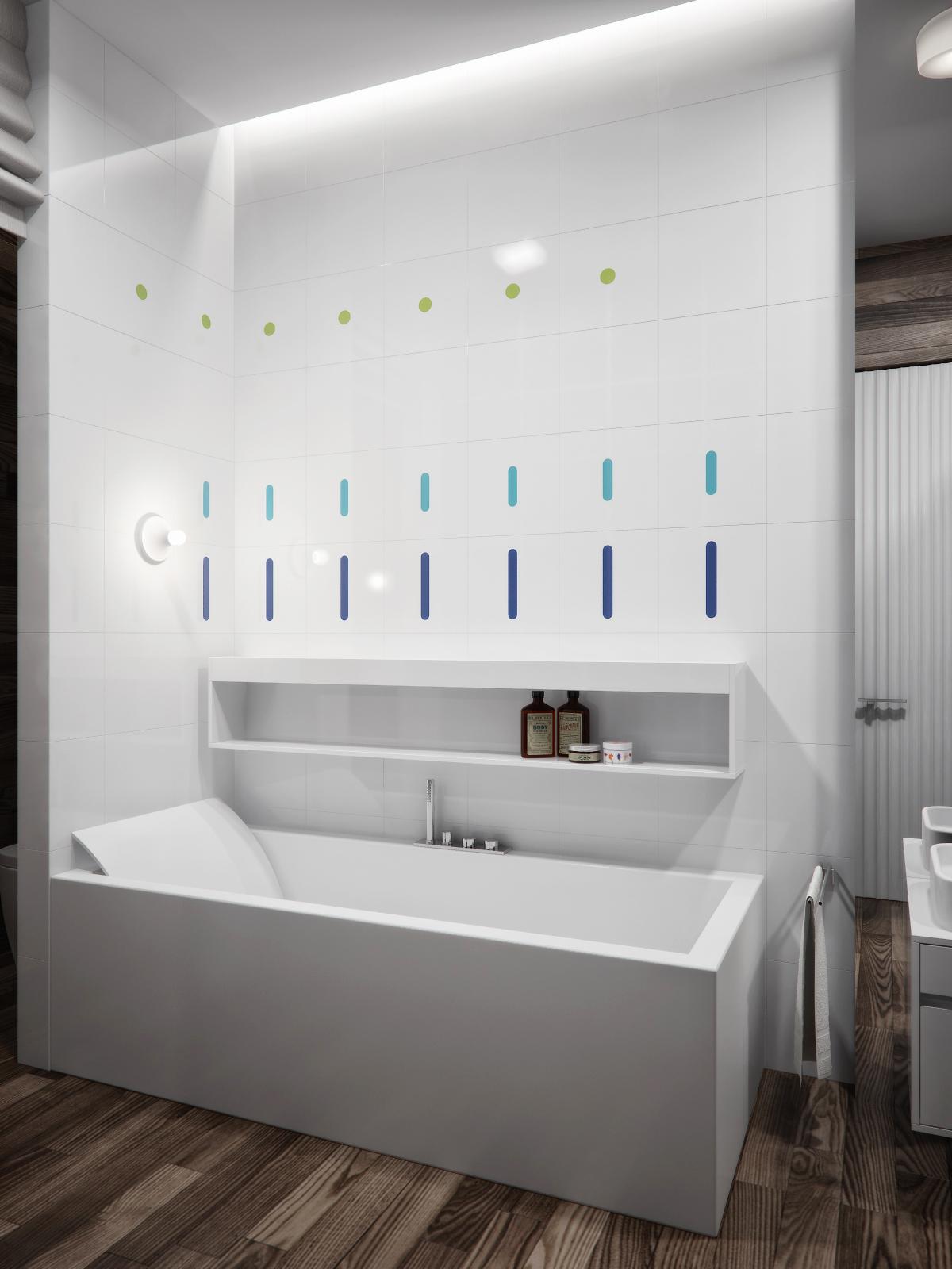 tile white bathroom design