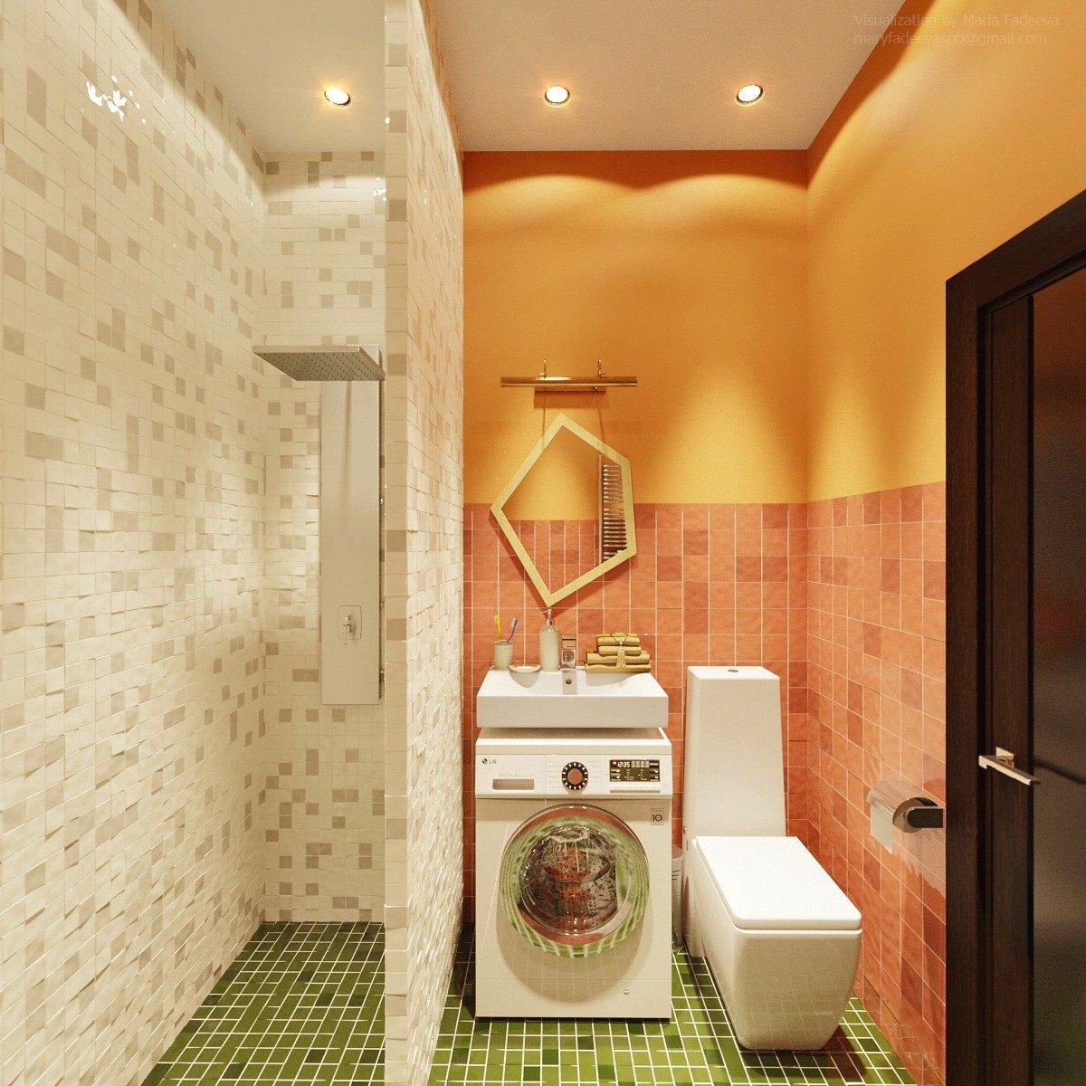 modern bathroom with backsplash