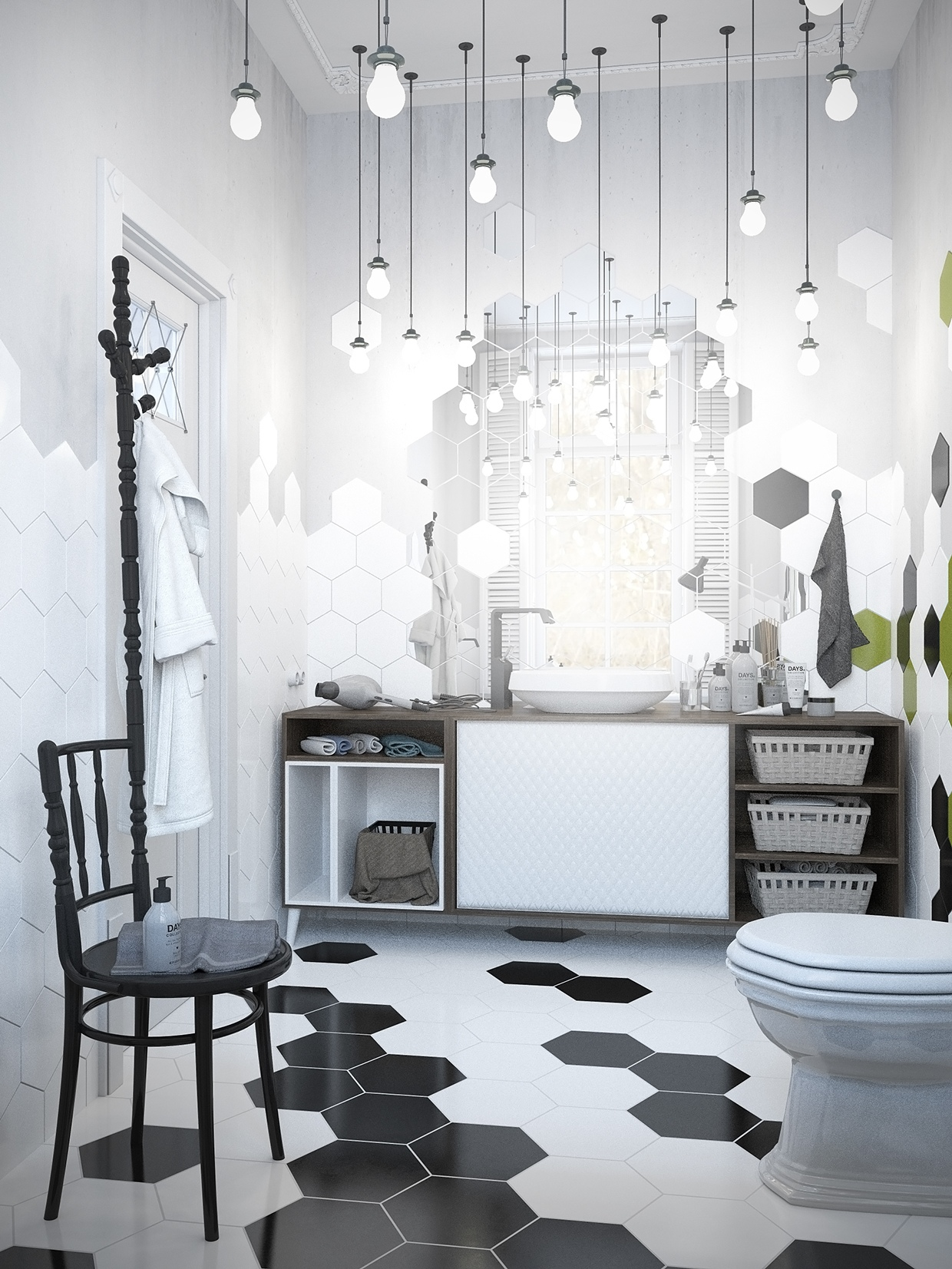 decorating scandinavian geometric design