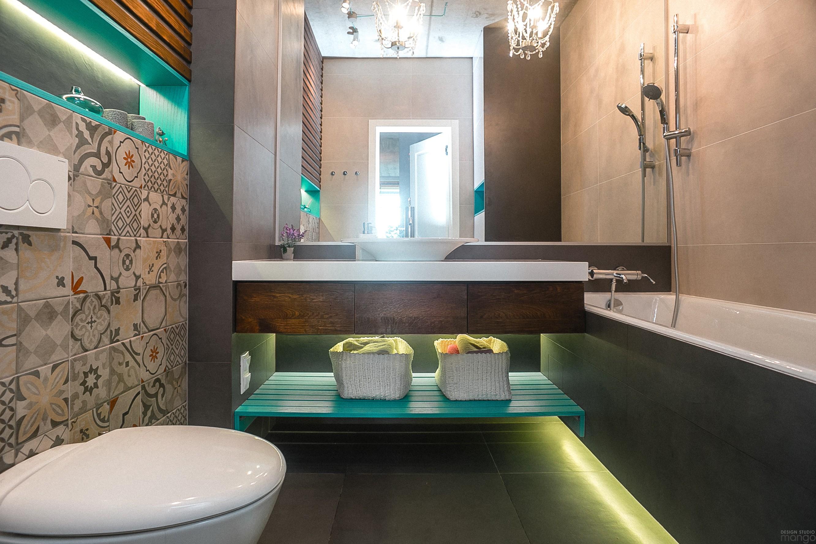 contemporary bathroom decorating idea