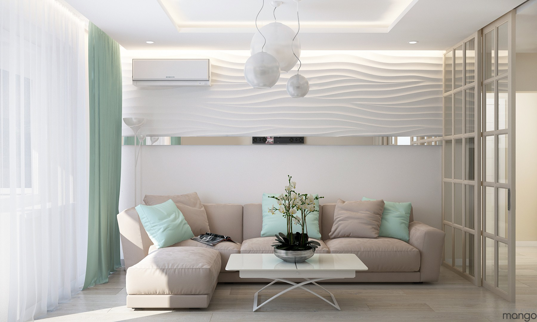white small living room wall texture