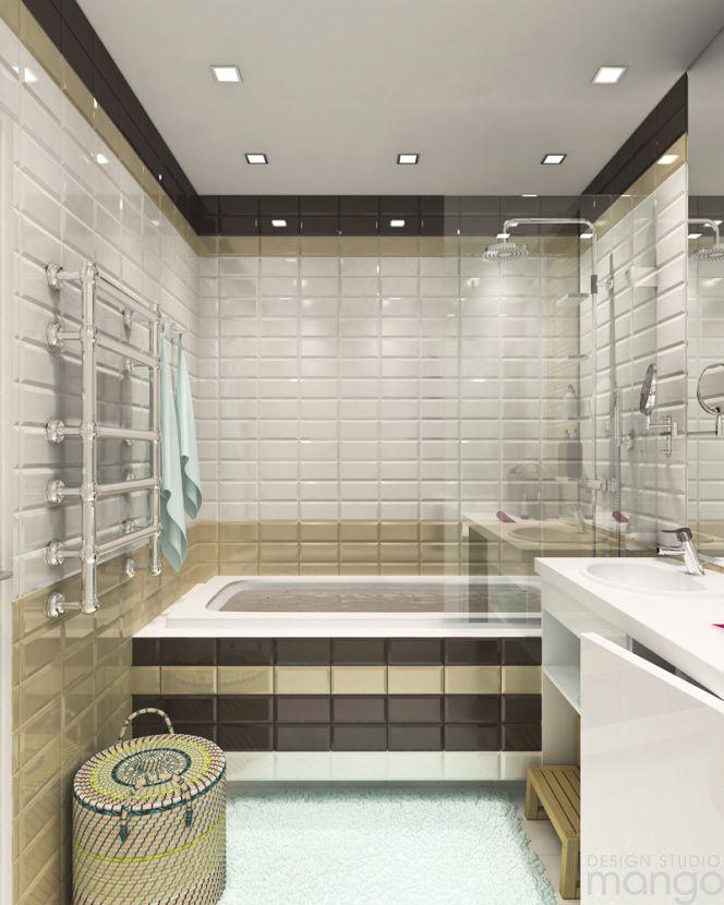 minimalist brick wall bathroom