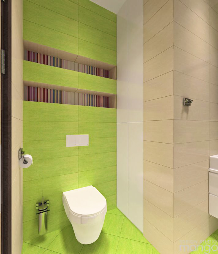 green backsplash bathroom design