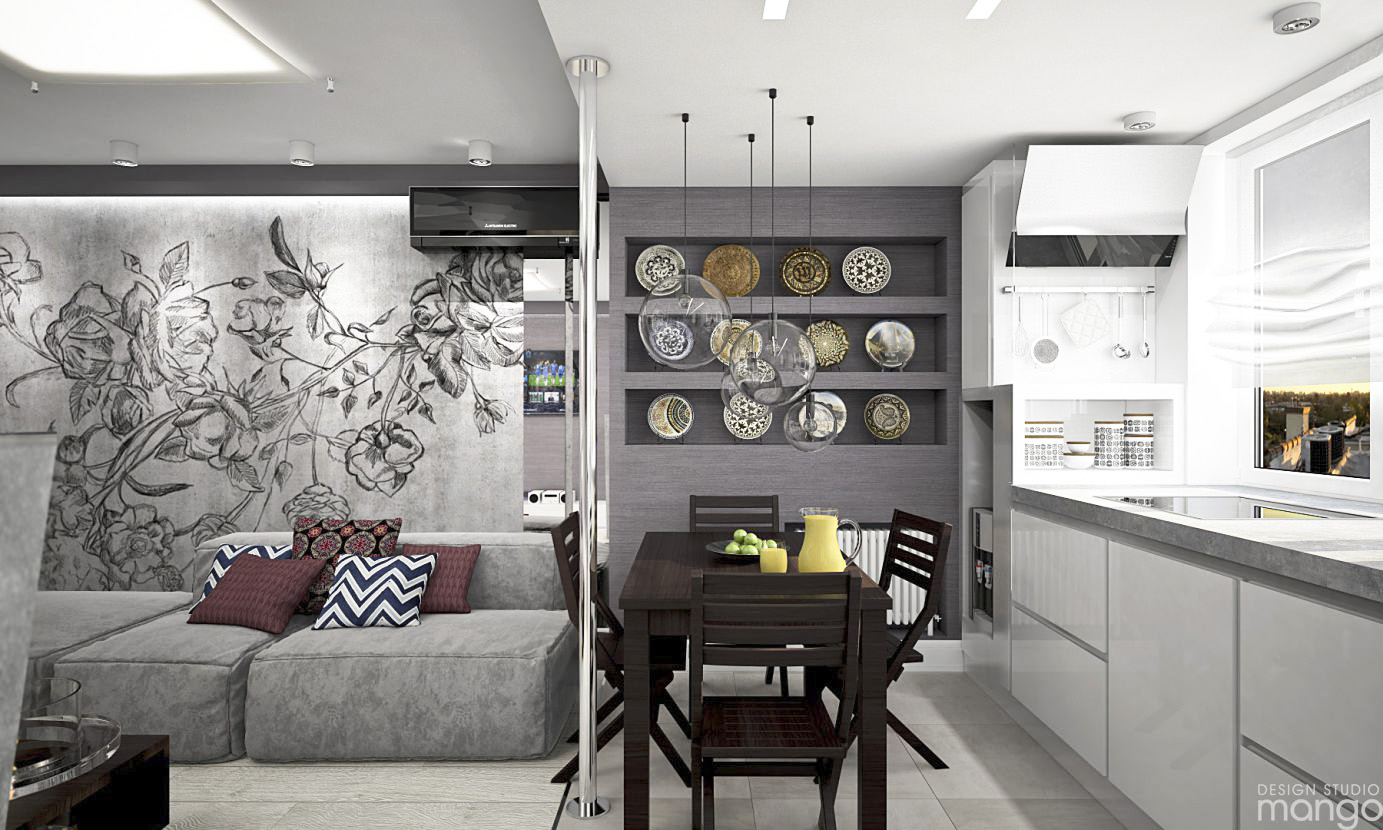 gray living room design
