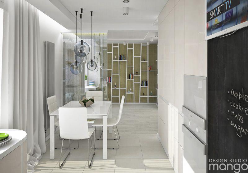 white moddrn dining room