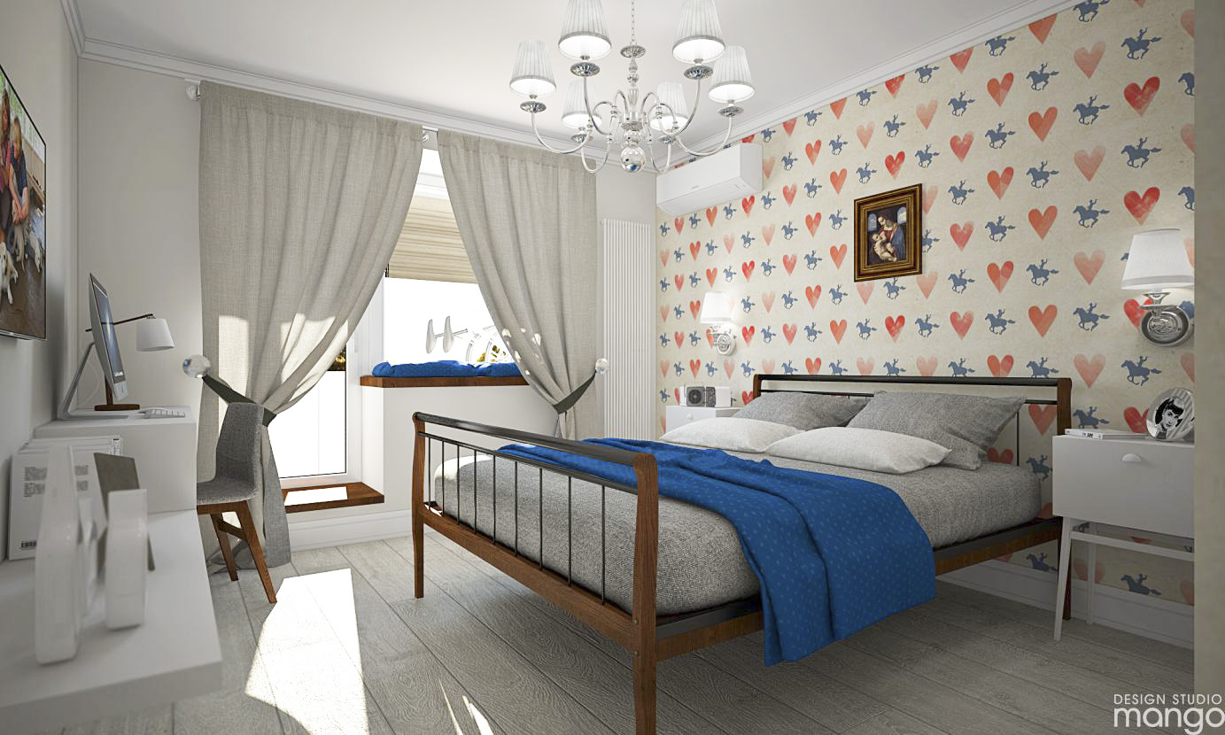 cute wallpaper bedroom design