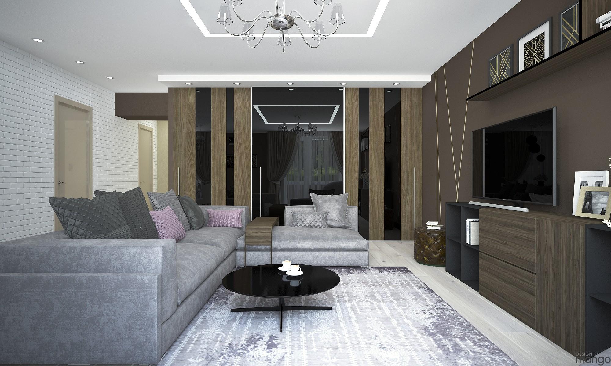 luxury wooden living room