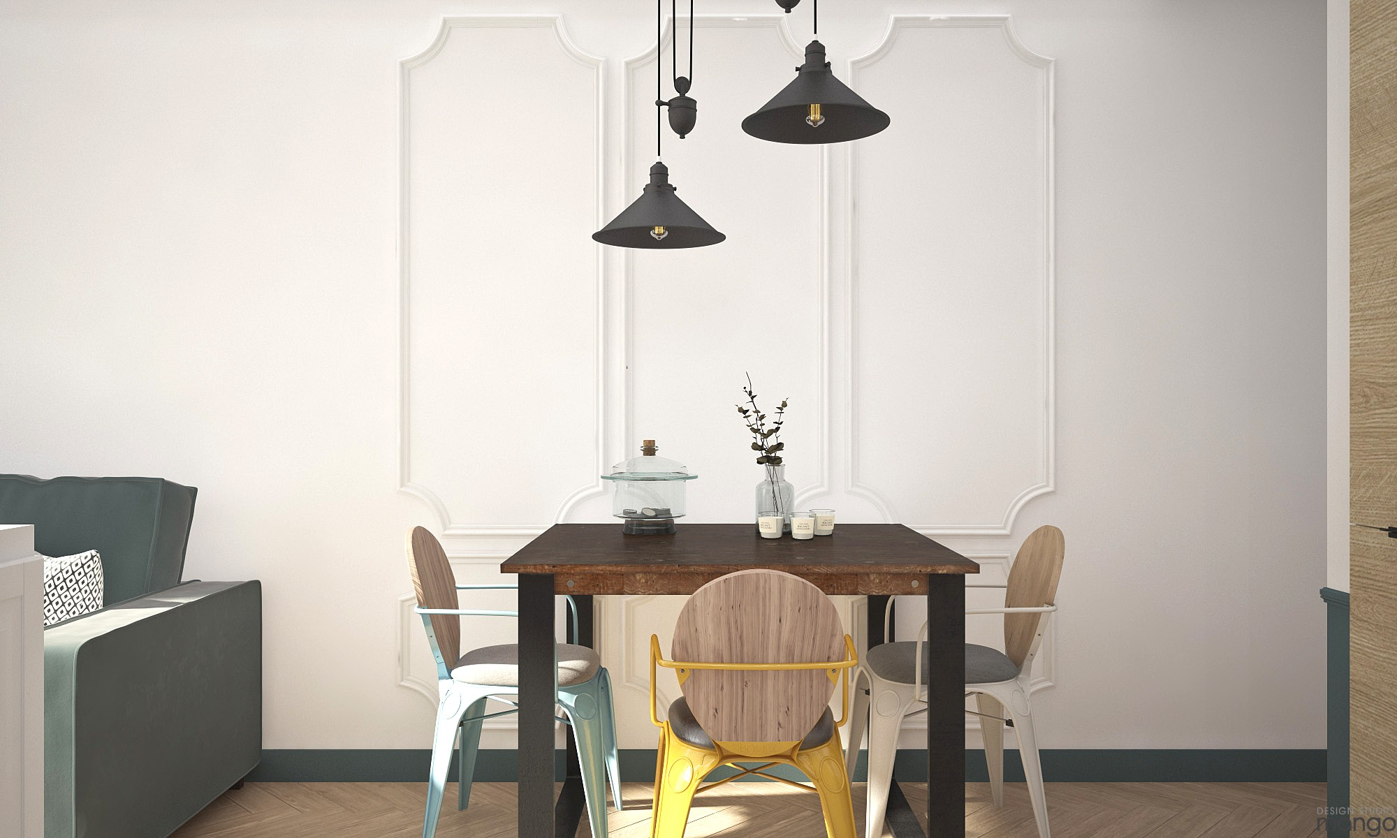 Inspiration to decor small dining room designs with a for Simple dining room table decor
