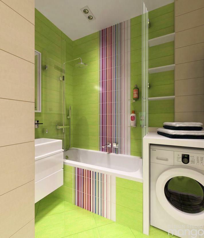 small green bathroom decor