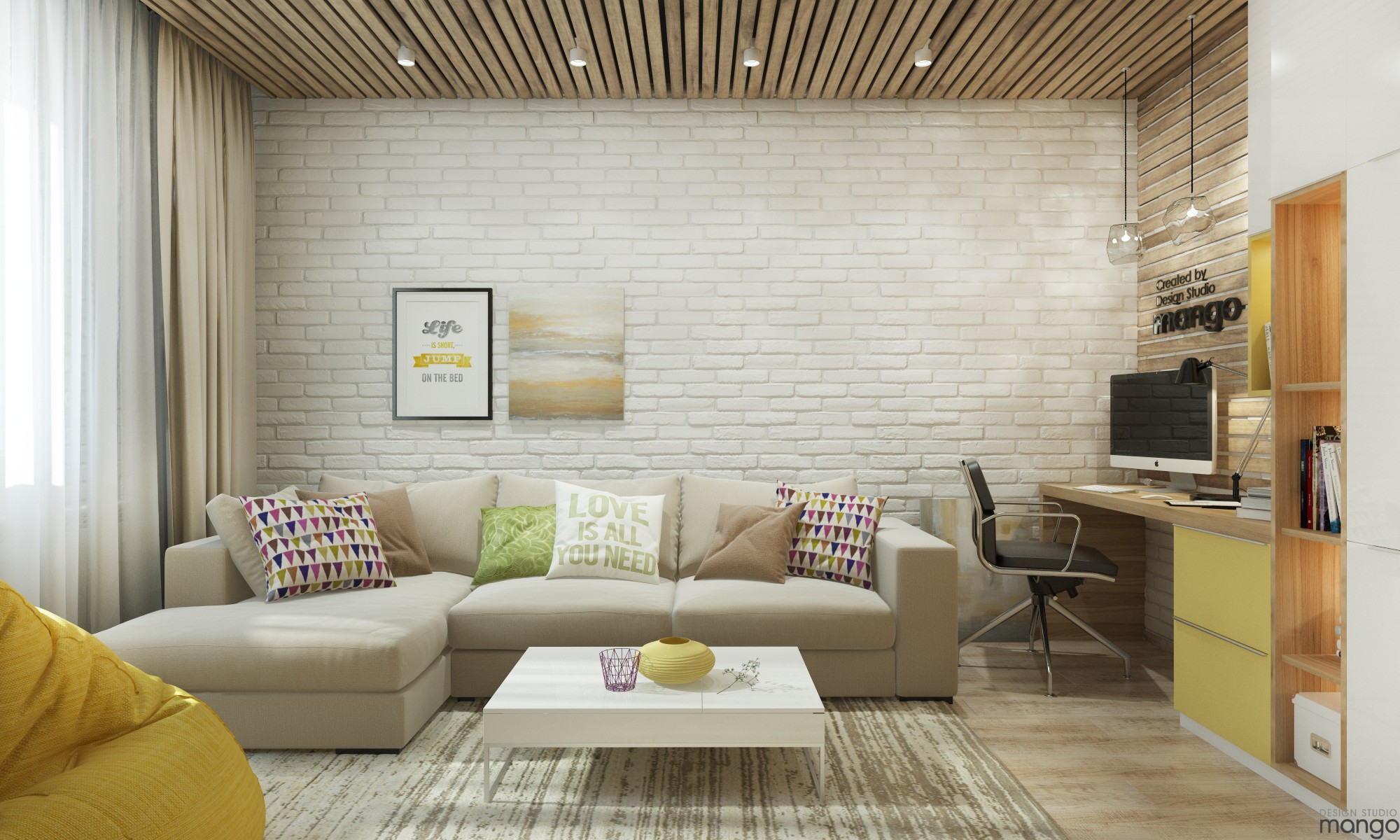 wall texture small living room design