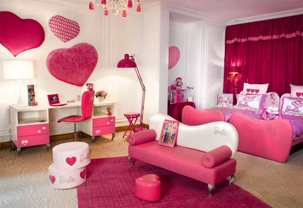 adorable pink girls bedroom decor