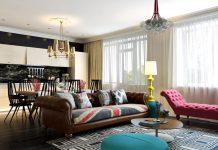 modern apartment design with pop artwork