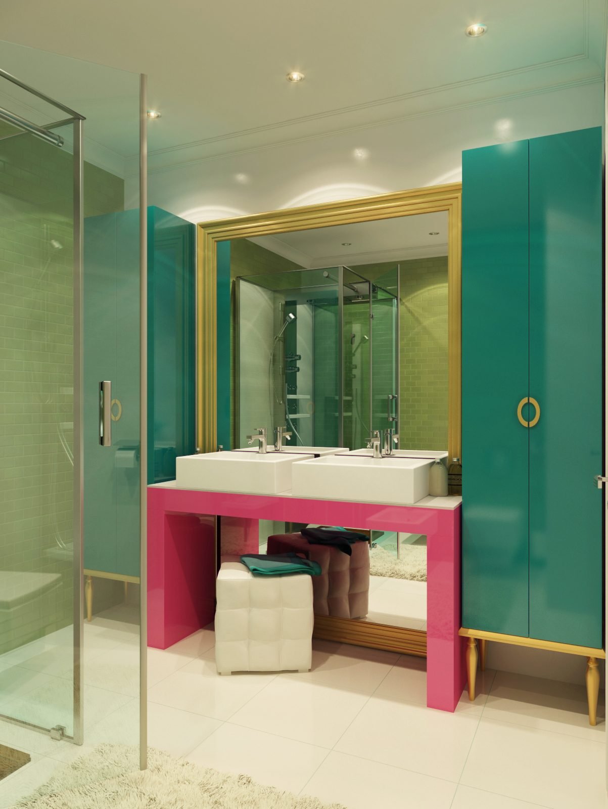 colorful bathroom design