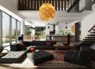 open plan concept apartment design
