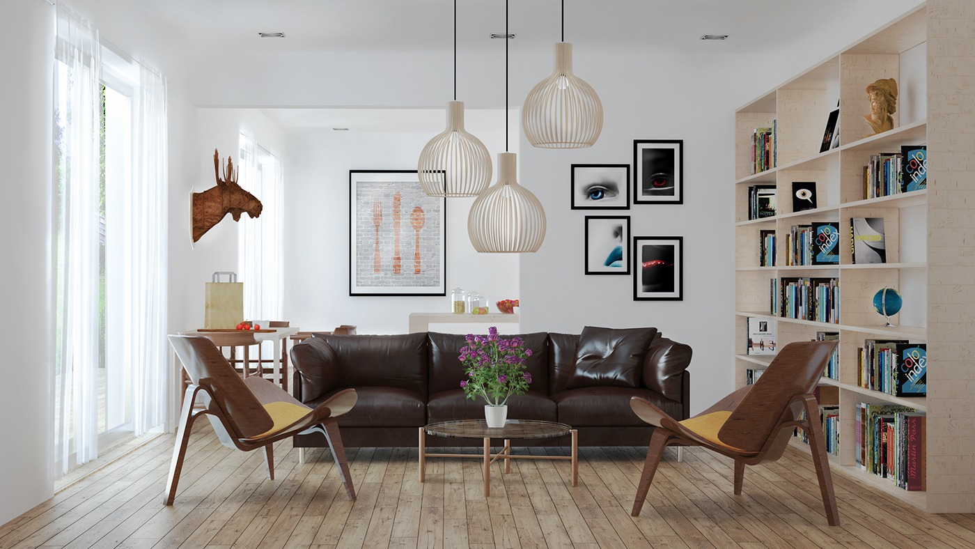 Fascinating Scandinavian Living Room Designs Combined With