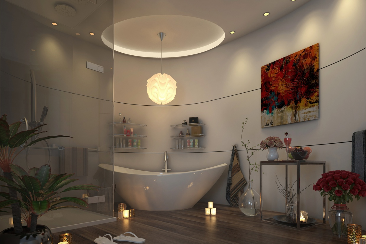 modern bathroom bring relax impression