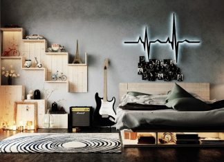 modern bedroom wall texture design