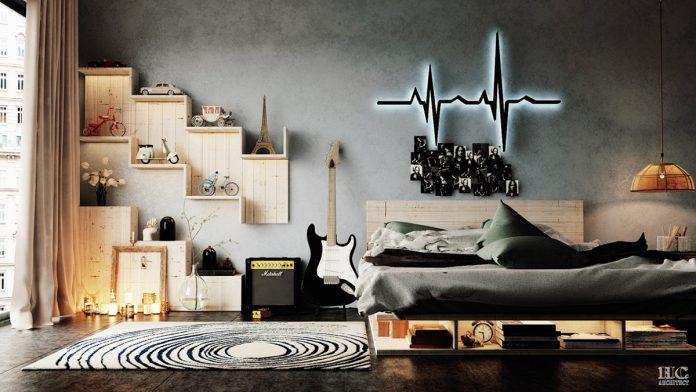 modern bedroom wall texture design